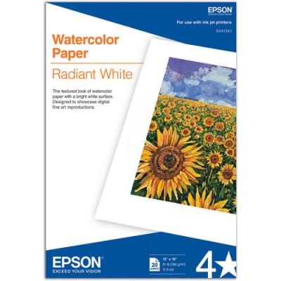 EPSON WaterColor Radiant White Paper 190 gr